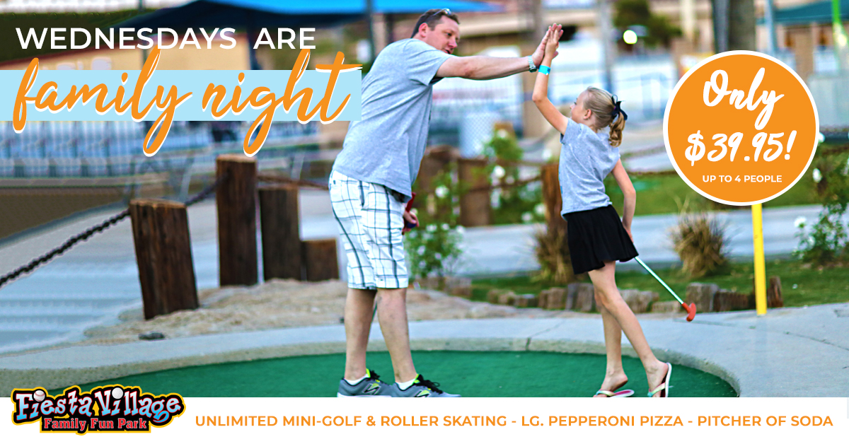 Fiesta Village Family Night | Mini Golf and Roller Skating